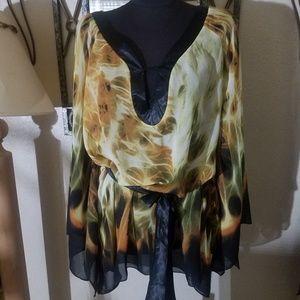 Madison Paige 3x flowy blouse